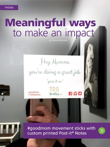 amplify promotional products magazine - Trend story - Meaningful ways to make an impact