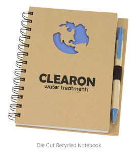 Die Cut Recycled Notebook - 4imprint Promotional Products