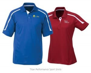 Titan performance sport shirts - 4imprint promotional products
