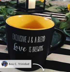 A custom coffee mug