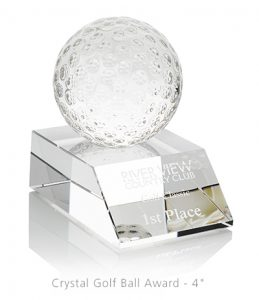 Crystal Golf Ball Award - Golf Swag Ideas from 4imprint