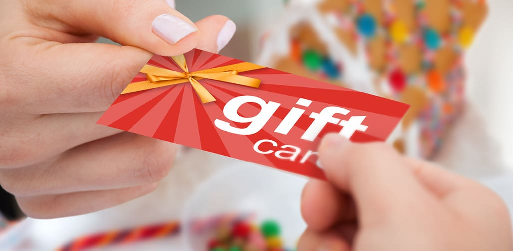 Gift cards make great holiday party gifts.