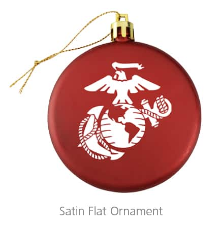 The Satin Flat Ornament is a beautiful holiday party gift.