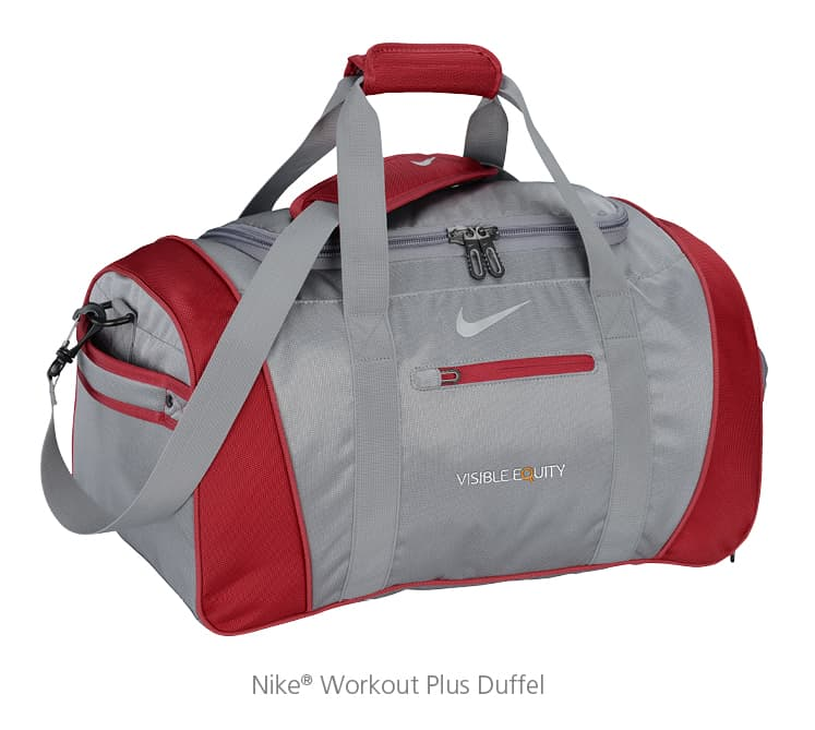 The Nike® Workout Plus Duffel can be a great piece of training swag.