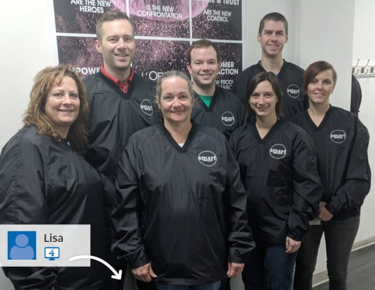 Company wearing branded outerwear - Photo posted to 4imprint's #SwaggingRights website