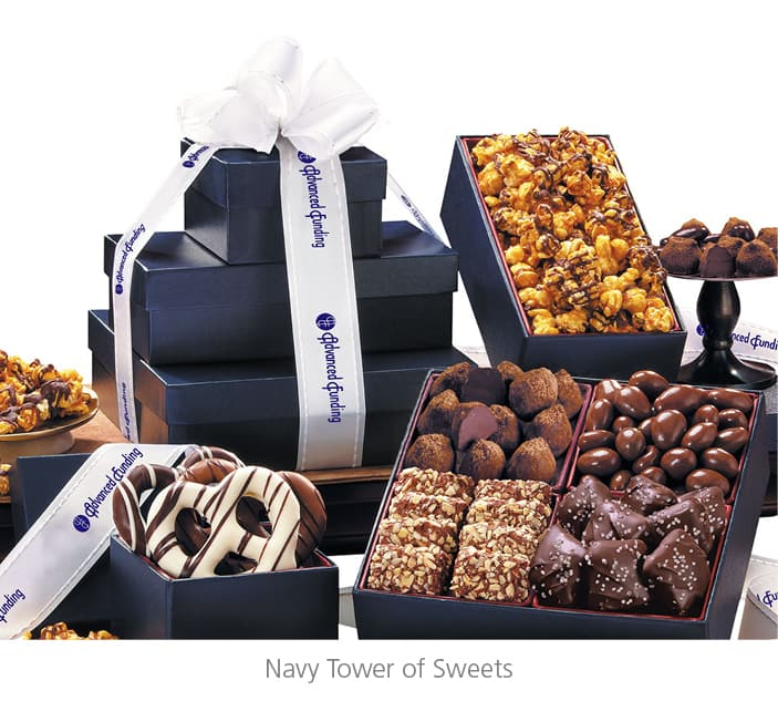 Navy Tower of Sweets