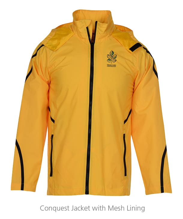 yellow conquest Jacket with Mesh Lining - team building gifts that can help identify who is on the team