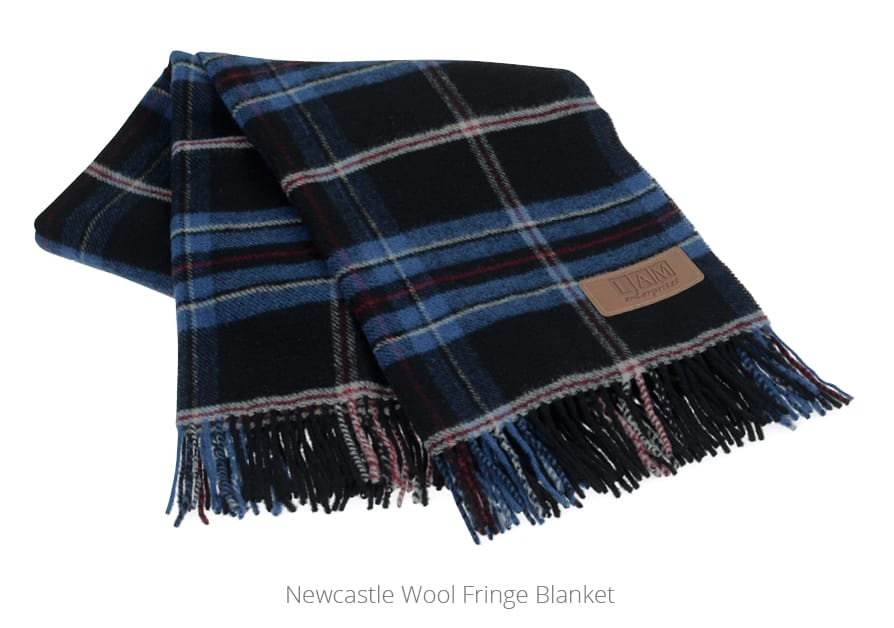 Newcastle Wool Fringe Blanket - promotional blankets from 4imprint