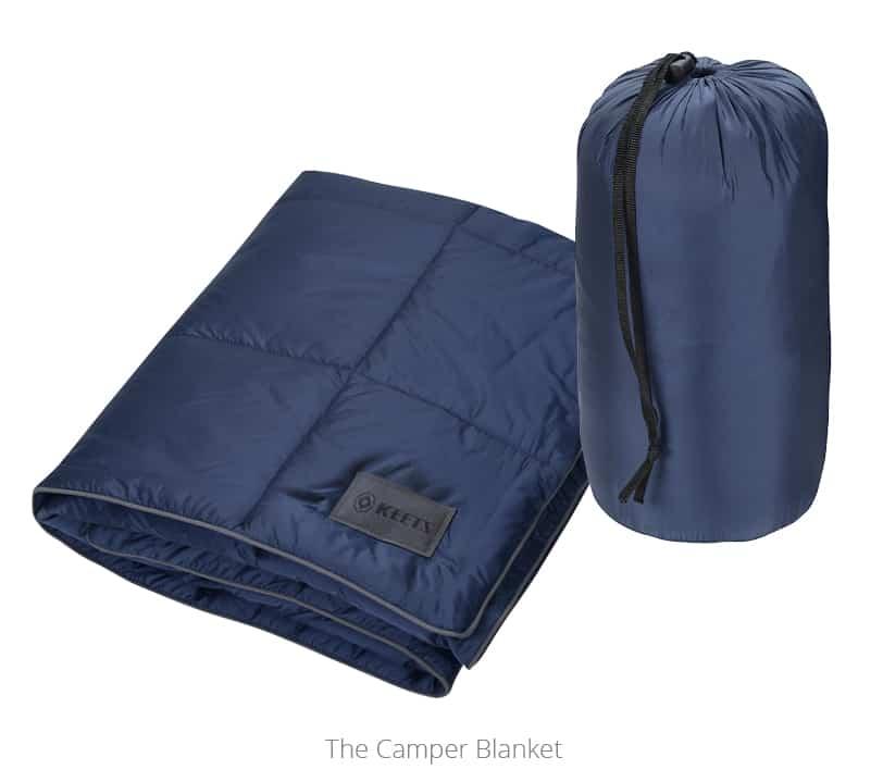 navy Camper Blanket - promotional blanket from 4imprint