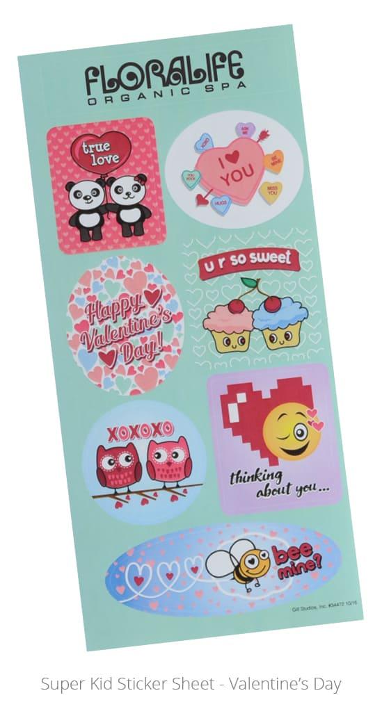 Super Kid Sticker Sheet - Valentine's Day