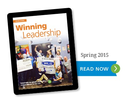 tablet showing Winning Leadership Article - Click to Read Now