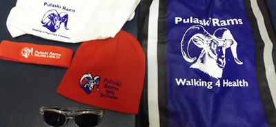 Pulaski high school showing popular promotional items that students could earn