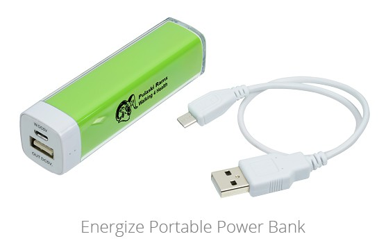 Energize Portable Power Bank is one of 4imprints top giveaways