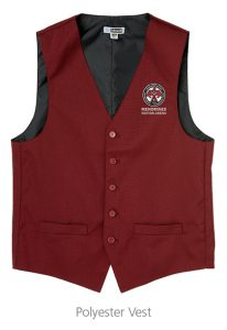 custom work uniforms example: Polyester Vest