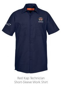 custom work uniforms example: Red Kap Technician Short-Sleeve Work Shirt