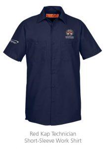 Red Kap Technician Short-Sleeve Work Shirt