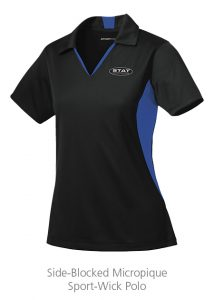 custom work uniforms example: Side-Blocked Micropique Sport-Wick Polo - Ladies