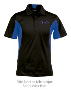 custom work uniforms example: Side-Blocked Micropique Sport-Wick Polo - Mens