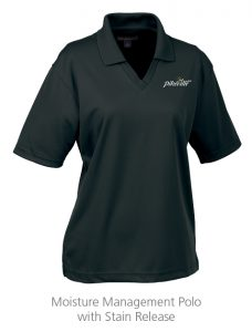 custom work uniforms example: Moisture Management Polo with Stain Release