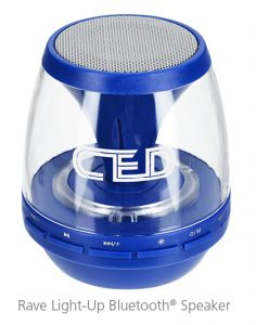 Rave Light-Up Bluetooth<sup>®</sup> Speaker - Great idea for business gift items this summer