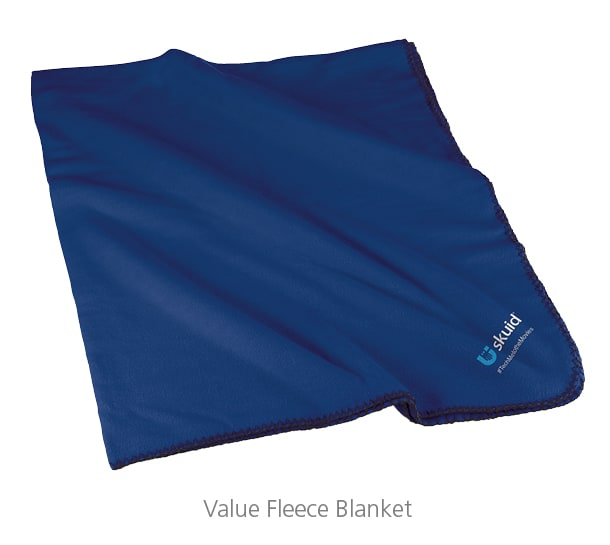 Value Fleece Blanket - perfect to put in swag bags for events