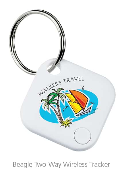 Imprinted Beagle Two-Way Wireless Tracker - Technology swag for event giveaways