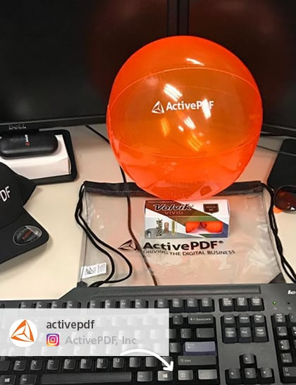 Customer posted Promotional ball giveaways they purchased from 4imprint. Orange Promotional Balls.
