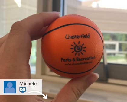 Customer posted Promotional ball giveaways they purchased from 4imprint. Stress Balls - basketball | Promotional Balls.