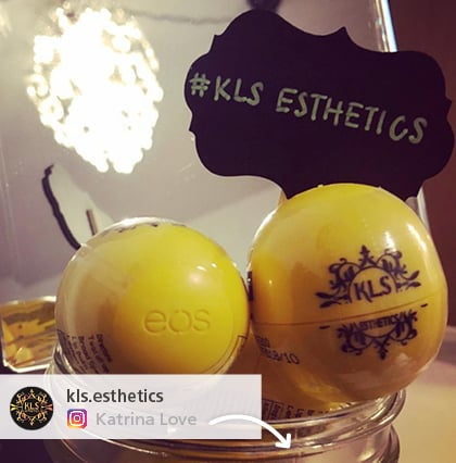 Customer posted Promotional ball giveaways they purchased from 4imprint. eos lip balm giveaways
