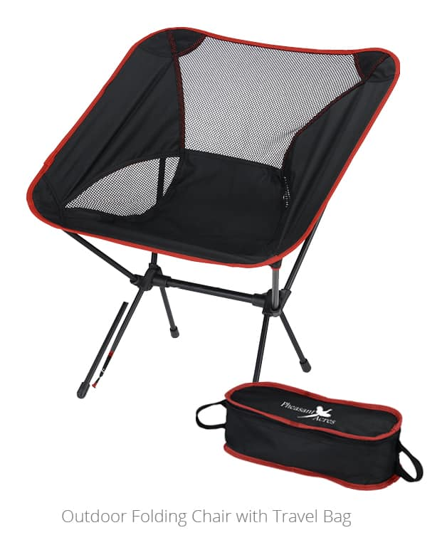 The Outdoor Folding Chair with Travel Bag is an excellent outdoor promotional item.
