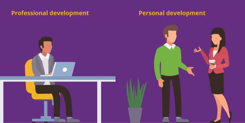 Illustration of Personal vs. Professional development