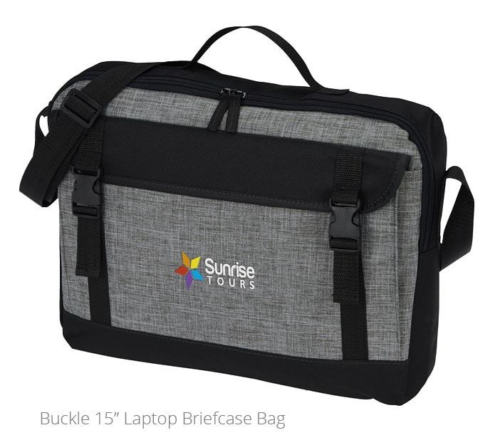 Photo of branded Laptop Briefcase Bag. A great idea for employee personal or professional development gifts.