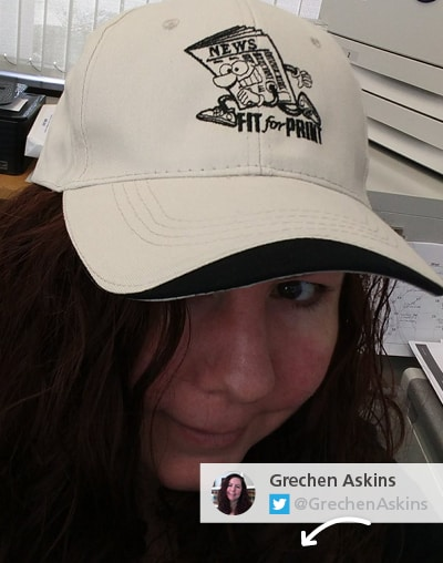 Twitter picture of branded headwear - Outdoor promotional items that block the sun