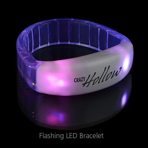 Flashing LED Bracelet - makes for great event gifts