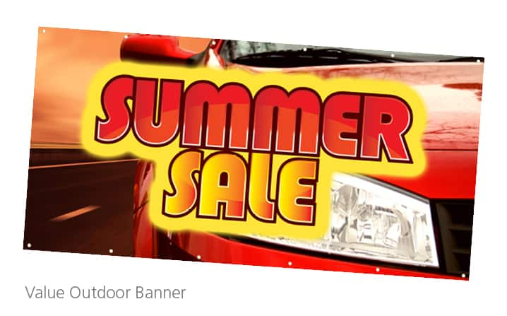 Value Outdoor Banner - This banner is a perfect event promotional products