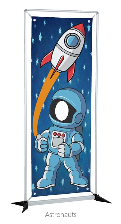 Astronaut Replacement Banner Graphic - An event promotional products must have