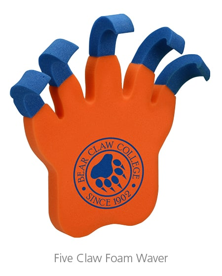 Five Claw Foam Waver - foam promotional products make great event gifts