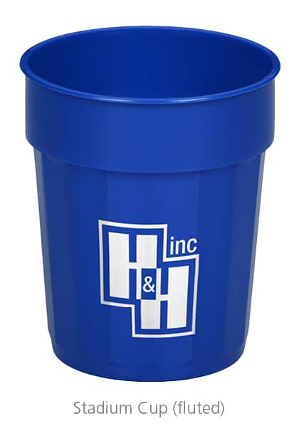 Fluted Stadium Cups - Great idea of event gifts