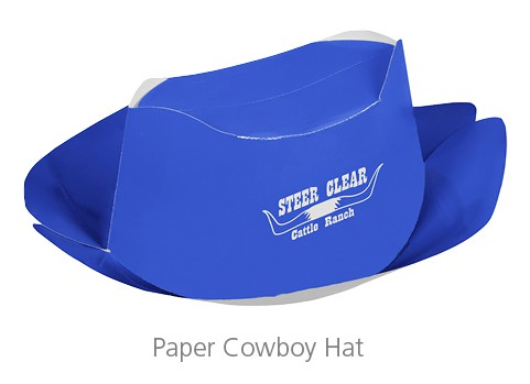 Paper Cowboy Hat - event gifts that your attendees will love