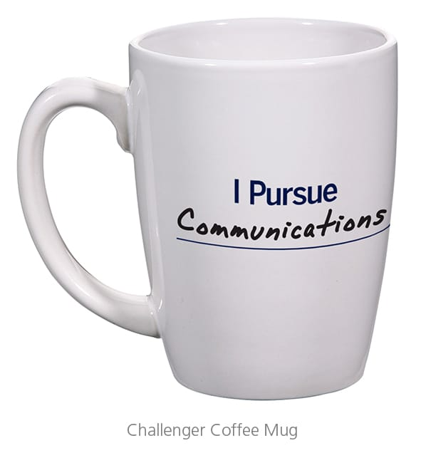 Challenger Coffee Mug - Branded swag that university of Michigan used to make their employees brand advocates