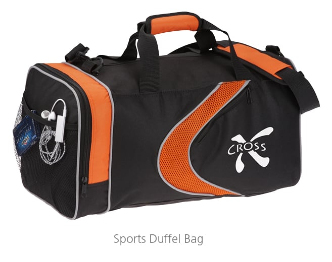 sports duffel bag - branded swag to make your employees brand advocates