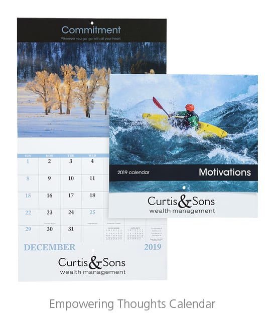 Empowering Thoughts Calendar - branded promotional products