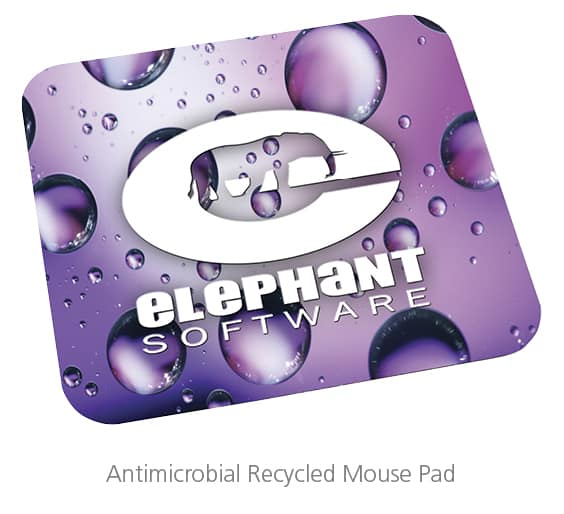 antimicrobial recycled Mouse Pad - branded gifts for employees