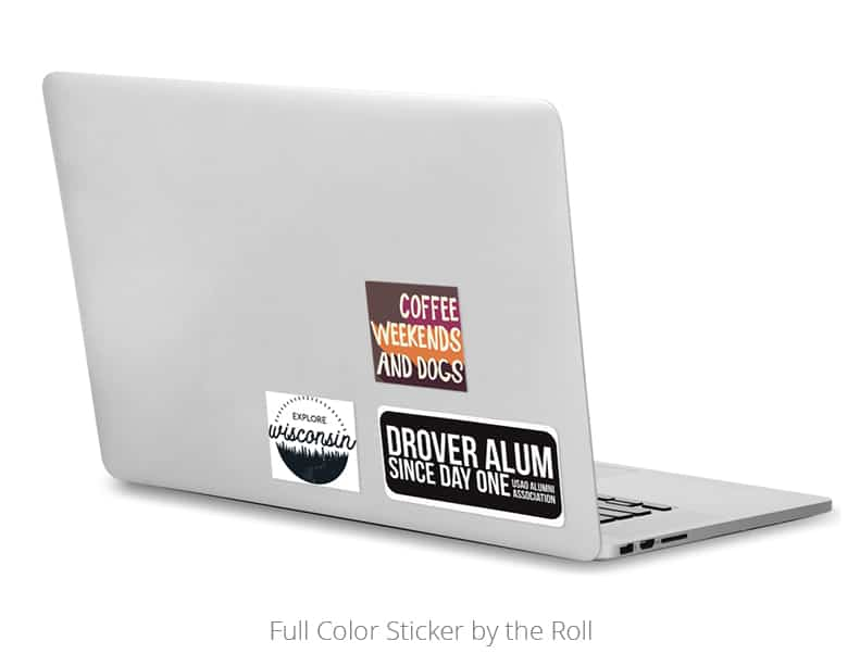 The Full Color Sticker by the Roll is an excellent university promotional product.