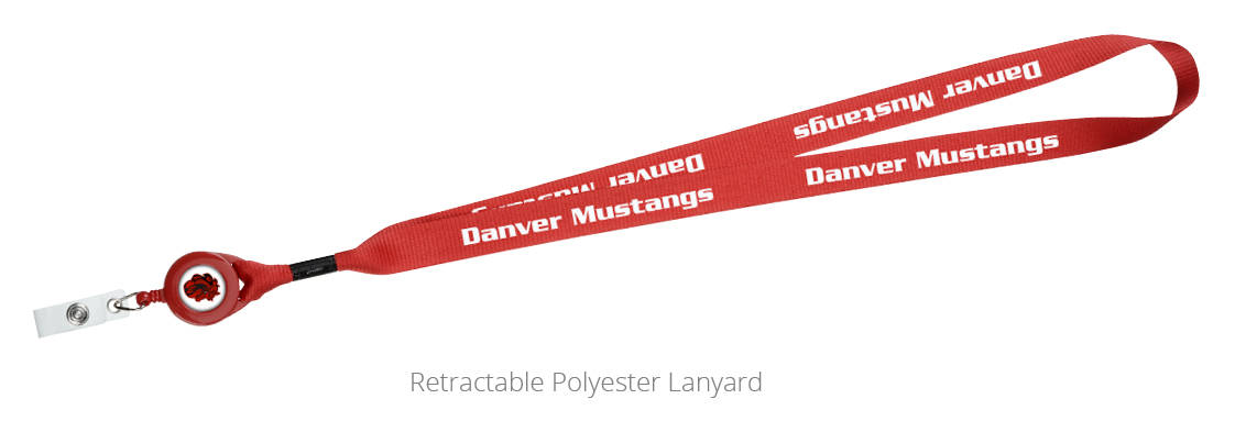 Retractable Polyester Lanyard