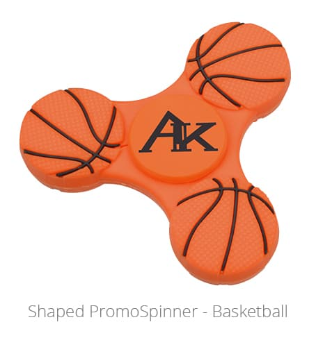 Shaped PromoSpinner - Basketball is a fun networking gift.