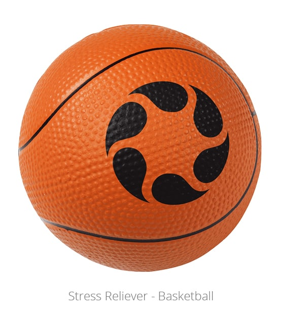 Basketball shaped Stress Reliever - wellness program giveaway for ChromaScape