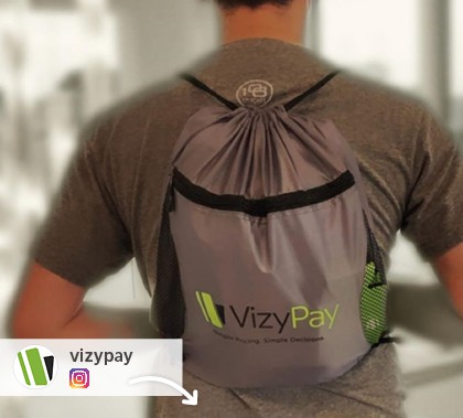 Instagram picture of a promotional sportpack from VizyPay