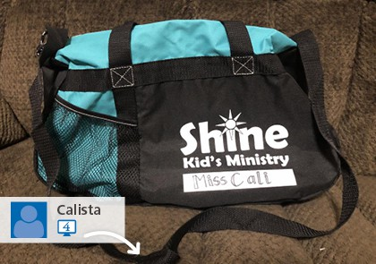 A social media picture of Shine Kid's Ministry's promotional bag