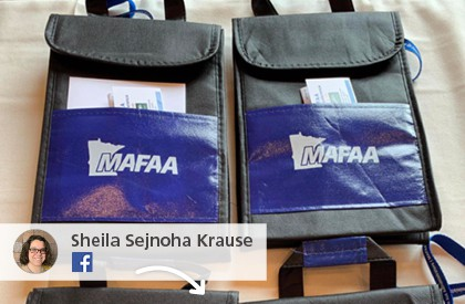 A Facebook post showing promotional lunch bags for MAFAA